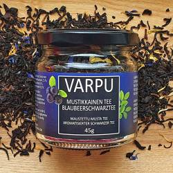 Varpu is naturally flavored black tea with a sweet blueberry note