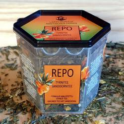 Repo is green tea with sea buckthorn berries and leaves